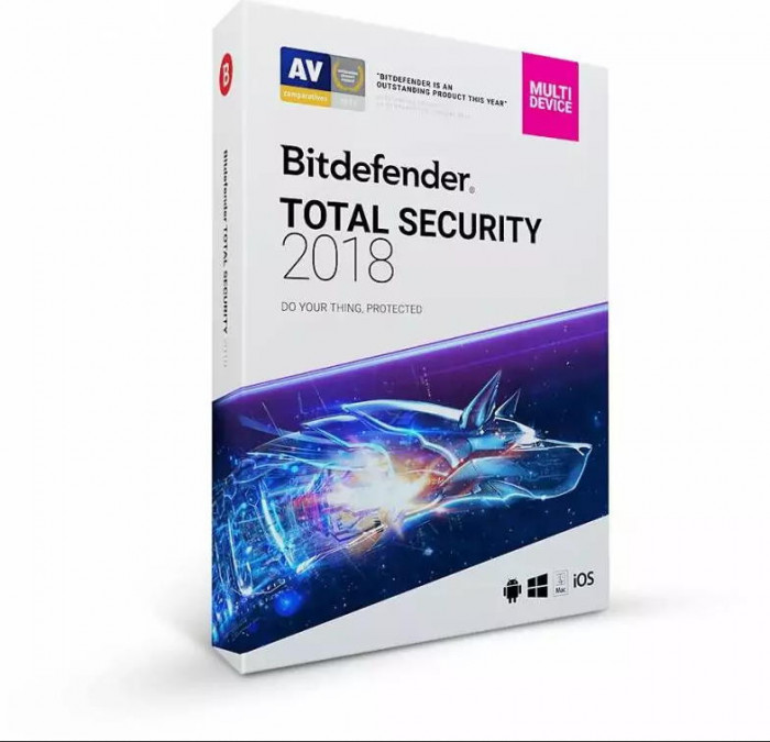 Bitdefender Total Security 2018 1An 5PC Licenta Noua Box