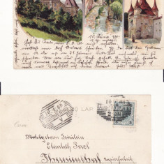 Brasov  (Litho) - Litografie 1900