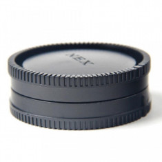 Set Capac body + Capac spate obiective Sony E- mount