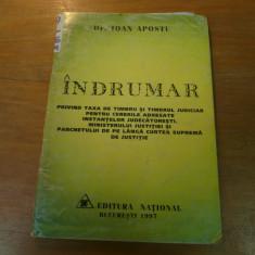 Indrumar privind taxa de timbru si timbru judiciar de Dr. Ioan Apostu 1997