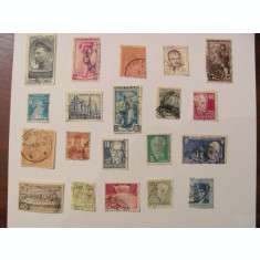 GE - Lot 100 timbre vechi deparaiate straine / o parte interbelice (1)