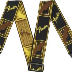 Curea chitara Fender Weighless Mono Strap Brown/Yellow/Brown