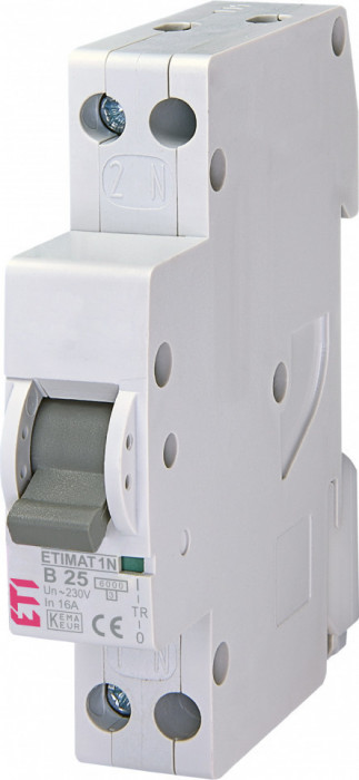 Siguranta automata Eti ETIMAT 1N 1p+N B25 6kA