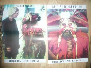 2 Afise pt.Filmul -Tribul din fundu' gradinii - cu R.Dreyfuss ,dim.= 59x33cm