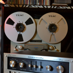 Set banda magnetofon metal TEAC 26,5cm+NAB-uri TEAC,, originale,rare-2-