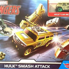 Set Hot Wheels Marvel Avengers Hulk Smash Attack, Mattel