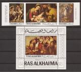 RAS AL KHAIMA PICTURA E. MURILLO (serie ndt. + colita dt.) MNH, Nestampilat