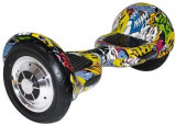 Scooter electric (hoverboard) Myria MY7004, Geanta inclusa (Graffiti Galben)