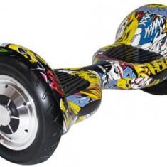 Scooter electric (hoverboard) Myria MY7004, Geanta inclusa (Graffiti Galben)