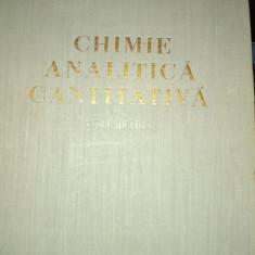 CHIMIE ANALITICA CANTITATIVA - VOLUMETRIA - CÂND ÎN LITEANU E S D P 1962,550 P