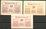 !!! AUSTRIA - LOT COMPLET NOTGELD REICHERSBERG 1920 - UNC / CELE DIN IMAGINE