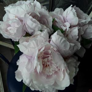 Buchet flori artificiale - Ranunculus 6 fire LILA PAL  înălțime 30 cm