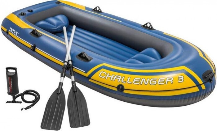 Set Barca gonflabila Challenger 3, Vasle si Pompa, 295 x 137 x 43 cm