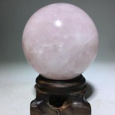 Sfera din cristal de cuart roz natural 58 mm,Feng-Shui Reiki Cristaloterapie!