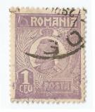 *Romania, LP 72/1929, Ferdinand - uzuale, 1 leu violet, eroare 5, oblit., Stampilat