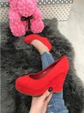 Pantofi dama rosii cu platforma marime   37, 38, 39, 40+CADOU, Din imagine