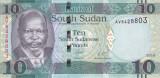 Bancnota Sudanul de Sud 10 Pounds 2016 - P12b UNC
