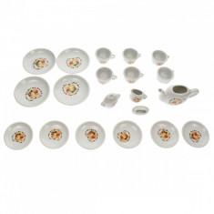 Set ceai portelan, cu modele, 20 de accesorii - 54168