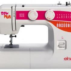 Masina de cusut casnica electro-mecanica ELNA SEW FUN (Alb-Mov)