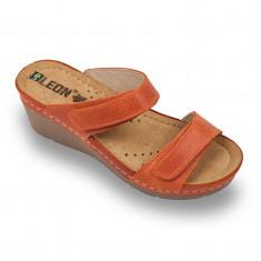Papuci medicali Leon 1040 portocaliu – dama