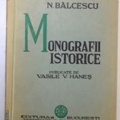 MONOGRAFII ISTORICE de N. BALCESCU