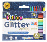 Set de 8 markere cu sclipici, The Littlies