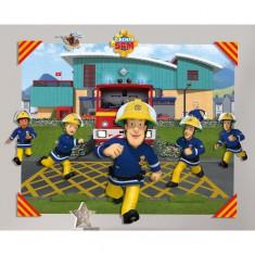 Tapet 3D pentru Copii Pompierul Sam
