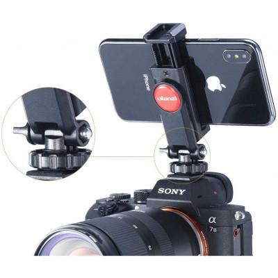 Holder ajustabil rotativ pentru telefoane, camere de actiune , trepiede / monopiede foto