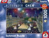 Cumpara ieftin Puzzle Focuri de artificii la Luvru, 1000 piese, Schmidt