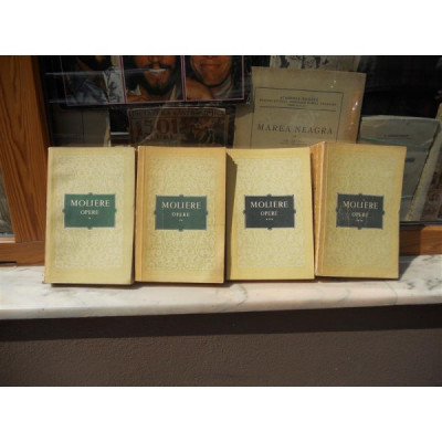 OPERE 4 VOLUME , Moliere , 1955,CU SEMNATURA EUGEN BARBU foto