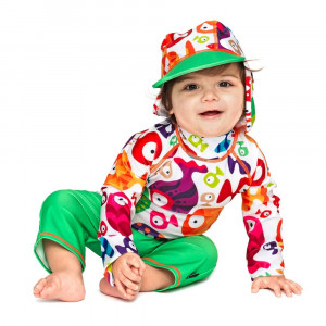 Costum de baie Funny Fish marime 74- 80 protectie UV Swimpy for Your BabyKids