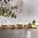 Set 4 pahare de sticla in forma de diamant, 50ml, Gonga