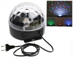 Efecte speciale cu Globul Disco cu MP3 Player, boxe incorporate, cititor de stick USB si card si Jocuri de Lumini in ritmul Muzicii