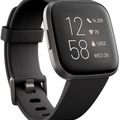Ceas activity tracker Fitbit Versa 2, NFC, WiFi, Bluetooth (Negru)