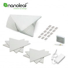 Kit Promo 15 Panouri luminoase inteligente Nanoleaf Aurora + Senzor Rythm