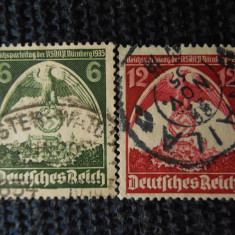REICH-CONGRESUL PARTIDULUI NAZIST -SERIE  COMPLETA-STAMPILATE, Stampilat