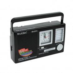 Radio portabil cu ceas Quartz WAXIBA XB-291 Negru