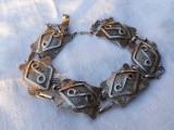 BRATARA argint TRIBALA cu semnul INFINITULUI a VIETII ETERNE vintage VECHE rara
