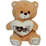 Ursulet de plus,Roben, cu fular, 30 cm, Maro,3 ani +