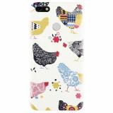 Husa silicon pentru Huawei Y6 Pro 2017, Chickens