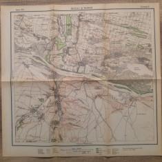 Bechet si Rahova// harta Serviciul Geografic al Armatei 1939