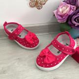 Cumpara ieftin Sandale roz moi cu fundita si buline pt fetite bebe 19 20 21 22 23 28