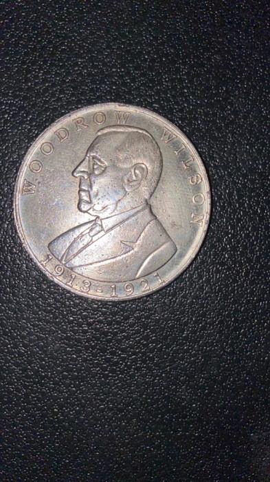 moneda comemorativa woodrow wilson 1913-1921