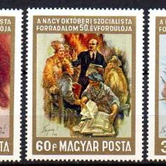 UNGARIA 1967, Arta, Pictura, Lenin, MNH, serie neuzata