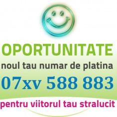 PLATINA VIP - 07xv.588.883 - Numar AUR frumos usor gold special cartela numere