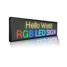 Reclama luminoasa LED RGB 100x40 cm, mesaj personalizabil multicolor, exterior