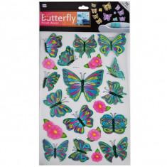 Stickere decorative - Fluturasi cu sclipici