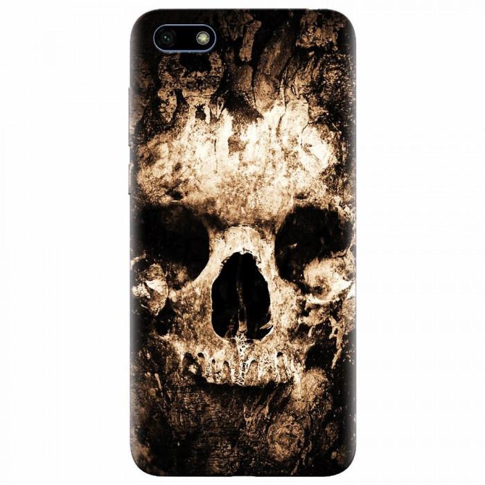 Husa silicon pentru Huawei Y5 Prime 2018, Zombie Skull