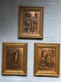 Set Tablou cu aplica din cupru bibliotecarul s.a.