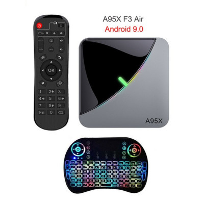 Mini PC SMART TV BOX, A95X F3 air s905x  Android 9.0, 4/32GB + i8 tastatura foto